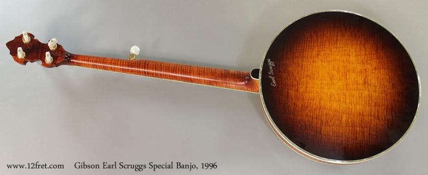 Gibson Earl Scruggs Special Banjo, 1996 Full Rear View