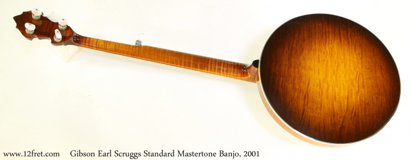 Gibson Earl Scruggs Standard Mastertone Banjo, 2001 Full Rear View