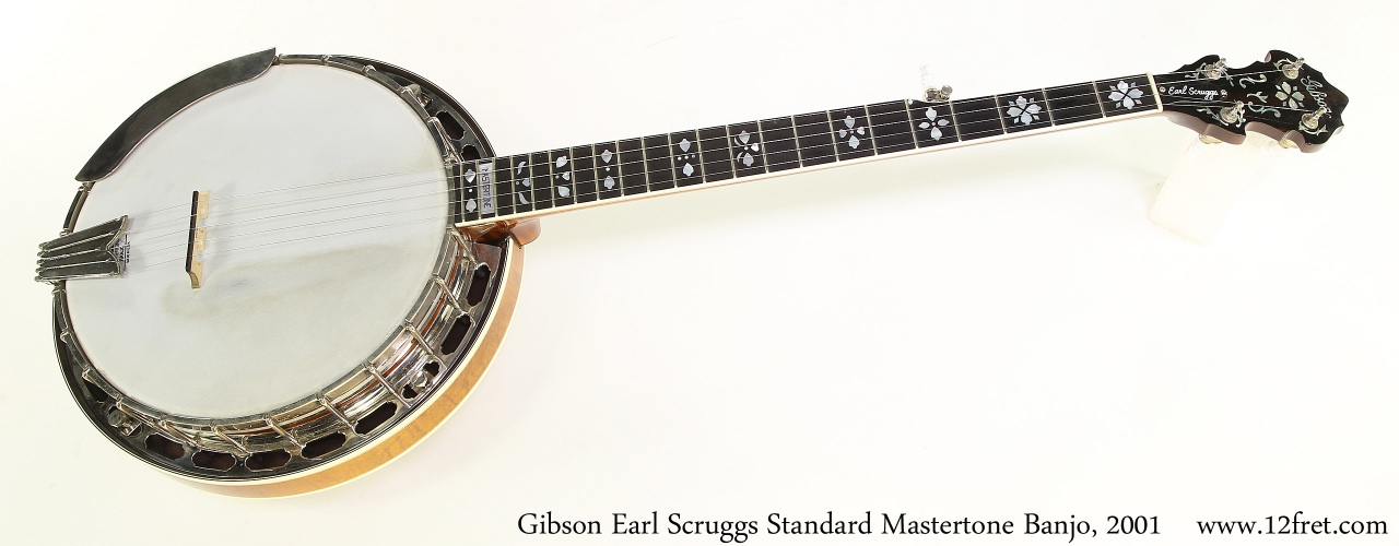 Gibson Earl Scruggs Standard Mastertone Banjo, 2001 Full Front View