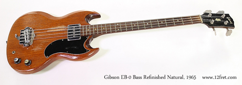 Gibson EB-0 Bass Refinished Natural, 1965 Full Front View