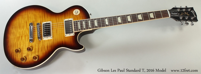 2016 Gibson Les Paul Standard T, Full Front VIew