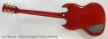 2016 Gibson SG Standard T Cherry, 2016 Model Full Rear VIew