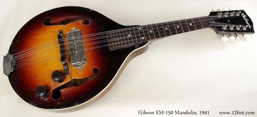 Gibson EM-150 Mandolin 1941 full front view