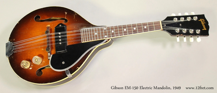 Gibson EM-150 Electric Mandolin, 1949 Full Front View