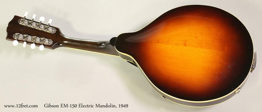 Gibson EM-150 Electric Mandolin, 1949 Full Rear View