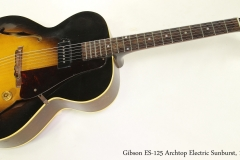 Gibson ES-125 Archtop Electric Sunburst, 1953 Full Front View