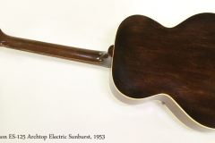 Gibson ES-125 Archtop Electric Sunburst, 1953 Full Rear View