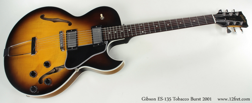 Gibson ES-135 Tobacco Burst 2001 full front view