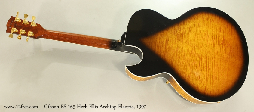 Gibson ES-165 Herb Ellis Archtop Electric, 1997 Full Rear View