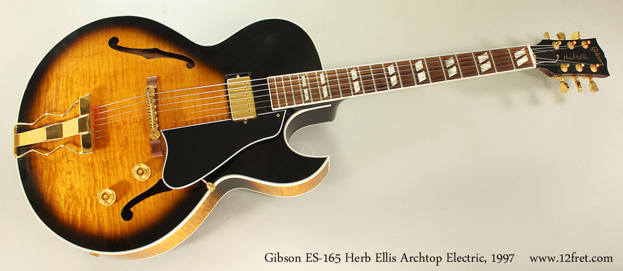Gibson ES-165 Herb Ellis Archtop Electric, 1997 Full Front View