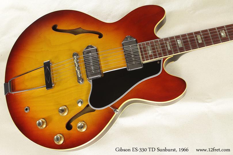 Gibson ES-330TD Sunburst 1966 top