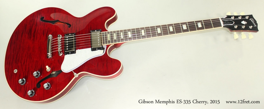 Gibson Memphis ES-335 Cherry, 2015 Full Front View