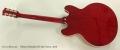 Gibson Memphis ES-335 Cherry, 2015 Full Rear View