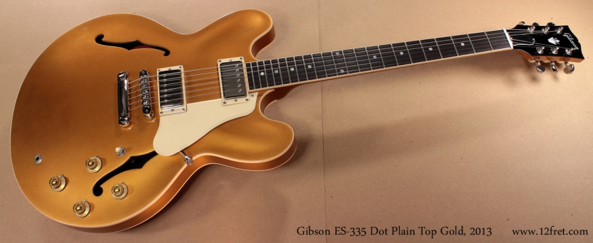 Gibson ES-335 Gold 2013 full front view