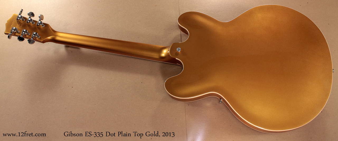 Gibson ES-335 Gold 2013 full rear view