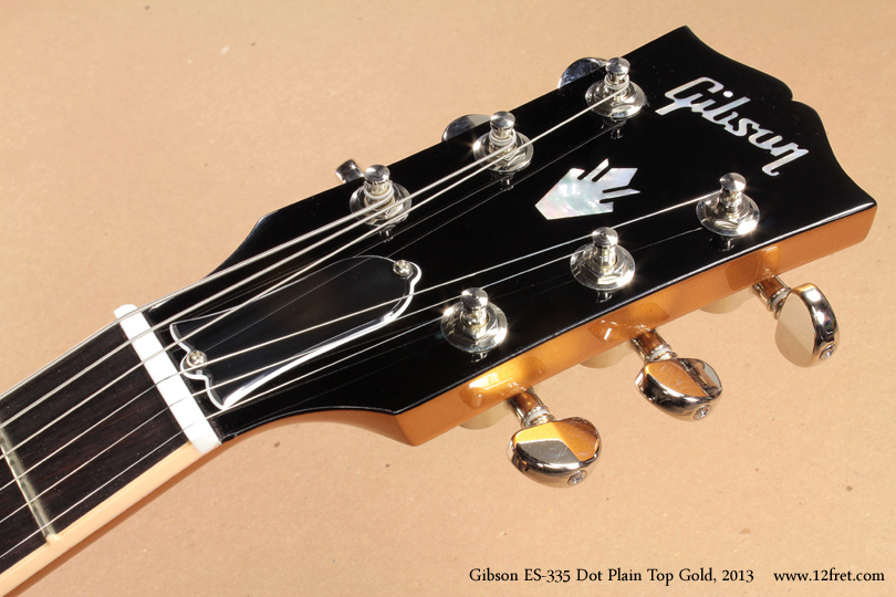 Gibson ES-335 Gold 2013 head front view