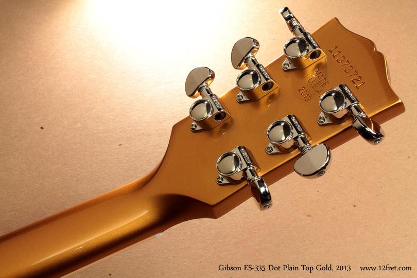 Gibson ES-335 Gold 2013 head rear view