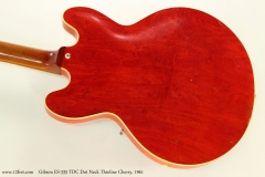 Gibson ES-335 TDC Dot Neck Thinline Cherry, 1961  Back View