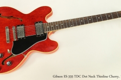 Gibson ES-335 TDC Dot Neck Thinline Cherry, 1961  Full Front VIew