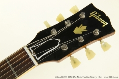 Gibson ES-335 TDC Dot Neck Thinline Cherry, 1961  Head Front View