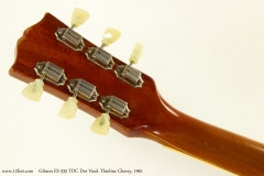 Gibson ES-335 TDC Dot Neck Thinline Cherry, 1961  Head Rear View
