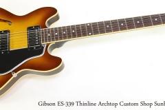 Gibson ES-339 Thinline Archtop Custom Shop Sunburst, 2011  Full Front View