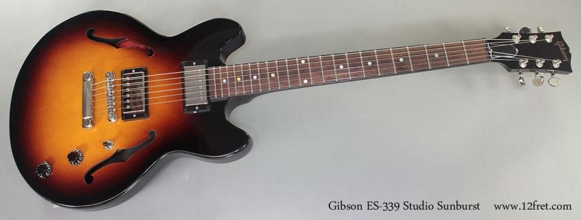 Gibson ES-339 Studio full front view