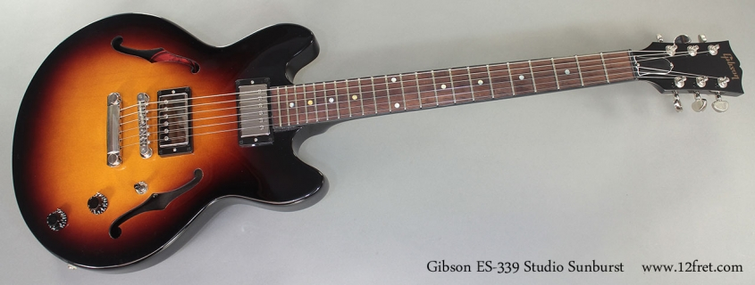 Gibson ES-339 Studio full front view