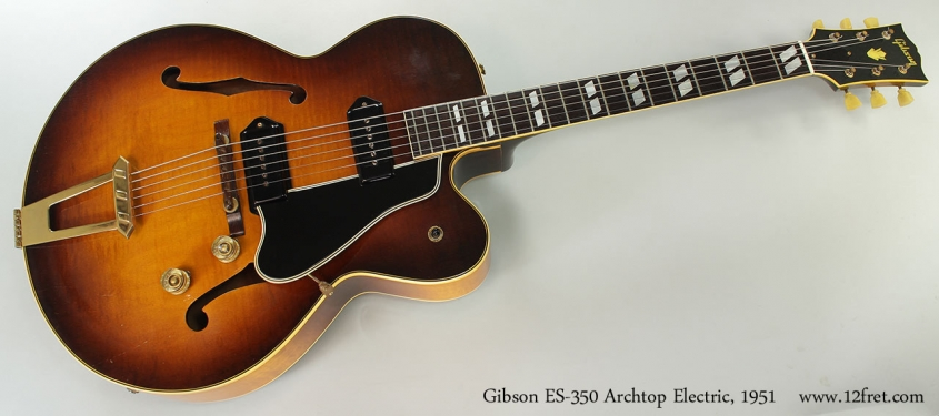 Gibson ES-350 Archtop Electric, 1951 Full Front View
