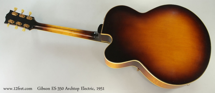 Gibson ES-350 Archtop Electric, 1951 Full Rear View