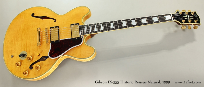 Gibson ES-355 Historic Reissue Natural, 1999 Full Front View