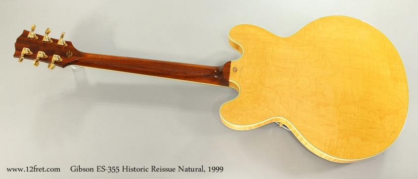 Gibson ES-355 Historic Reissue Natural, 1999 Full Rear View