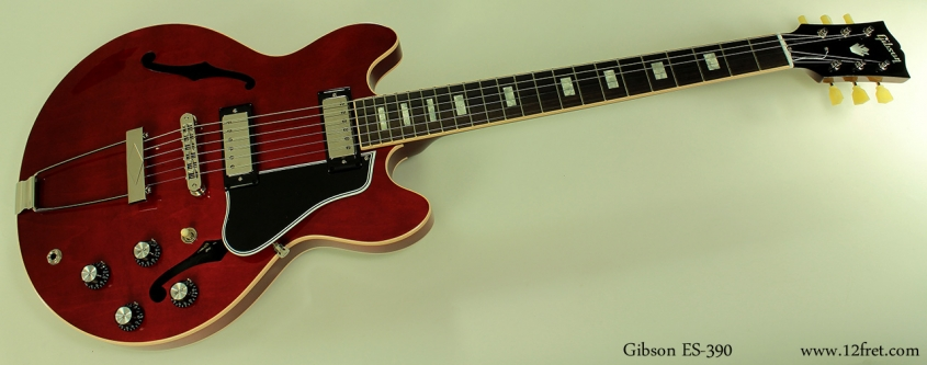 Gibson-ES-390-red-full-front-4