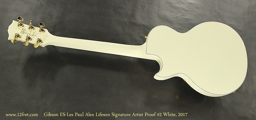 Gibson ES-Les Paul Alex Lifeson Signature Artist Proof #2 White, 2017 Full Rear View