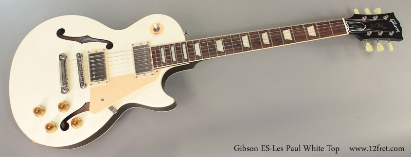 Gibson ES-Les Paul White Top Full Front VIew