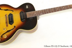 Gibson ES-125 D Sunburst, 1957  Full Front View