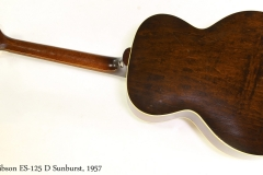 Gibson ES-125 D Sunburst, 1957  Full Rear View