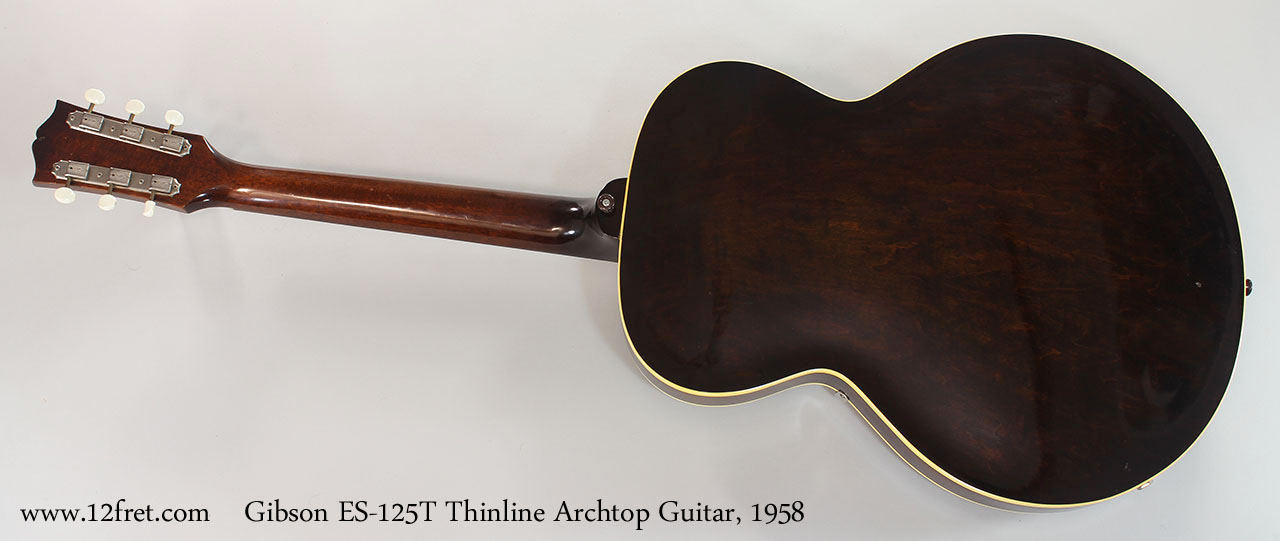 Gibson ES-125T Thinline Archtop Guitar, 1958 Full Rear View