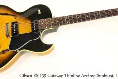 Gibson ES-135 Cutaway Thinline Archtop Sunburst, 1996 Full Front View