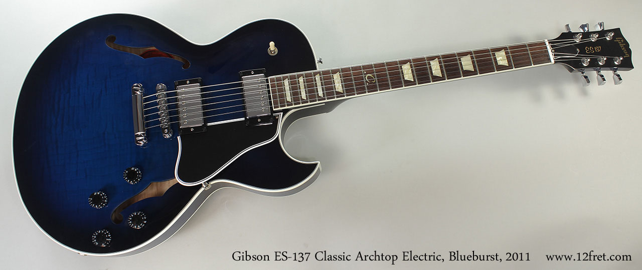 Gibson ES-137 Classic Archtop Electric, Blueburst, 2011 Full Front View