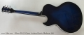 Gibson ES-137 Classic Archtop Electric, Blueburst, 2011 Full Rear View