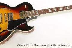 Gibson ES-137 Thinline Archtop Electric Sunburst, 2004 Full Front View