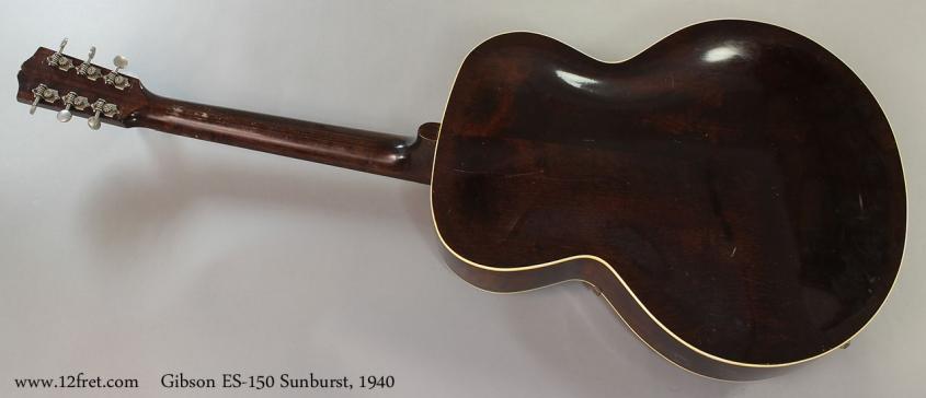 Gibson ES-150 Sunburst, 1940 Full Rear VIew