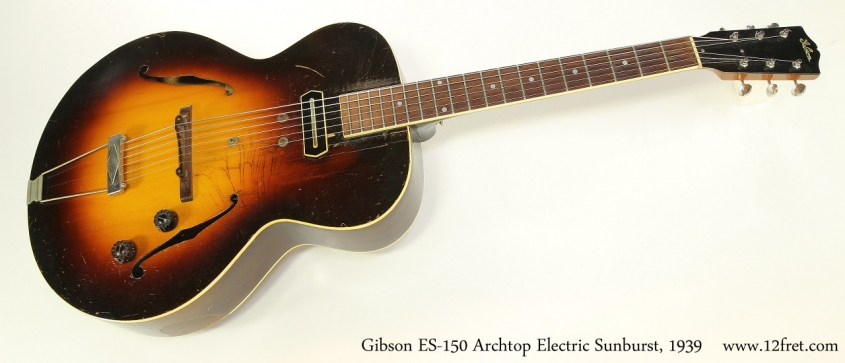 Gibson ES-150 Archtop Electric Sunburst, 1939 Full Front View
