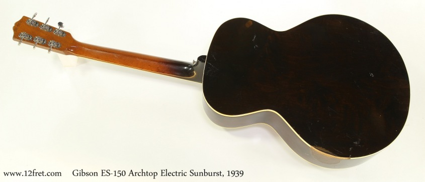 Gibson ES-150 Archtop Electric Sunburst, 1939 Full Rear View