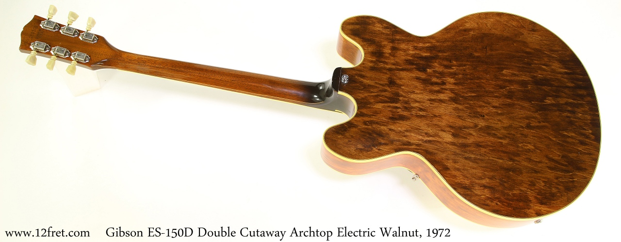 Gibson ES-150D Double Cutaway Archtop Electric Walnut, 1972 Full Rear View