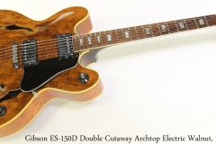 Gibson ES-150D Double Cutaway Archtop Electric Walnut, 1972 Full Front View