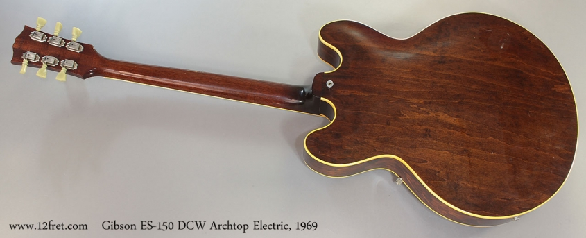 Gibson ES-150 DCW Archtop Electric, 1969 full rear view