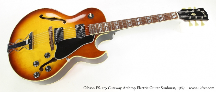 Gibson ES-175 Cutaway Archtop Electric Guitar Sunburst, 1969   Full Front View