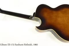 Gibson ES-175 Sunburst Refinish, 1960 Full Rear View